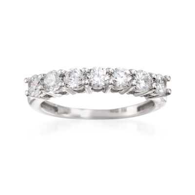 1.00 ct. t.w. CZ Seven-Stone Ring in 14kt White Gold, , default