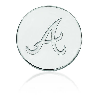 Sterling Silver MLB Atlanta Braves Lapel Pin, , default