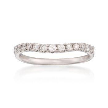 .33 ct. t.w. Diamond Wedding Ring in 14kt White Gold, , default