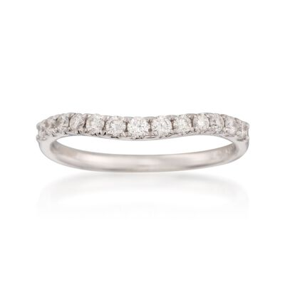 .33 ct. t.w. Diamond Wedding Ring in 14kt White Gold, , default