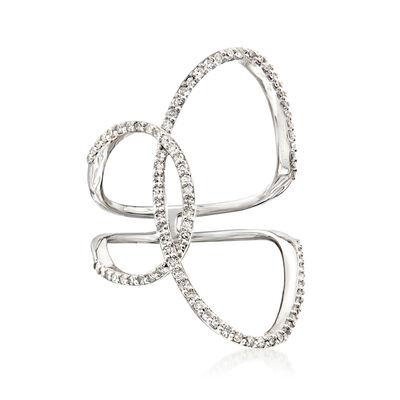 .43 ct. t.w. Diamond Interlocking Circle Ring in 14kt White Gold