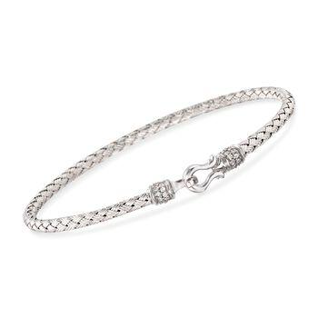"Charles Garnier ""Harpo"".20 ct. t.w. CZ Bangle Bracelet in Sterling Silver. 7"", , default"