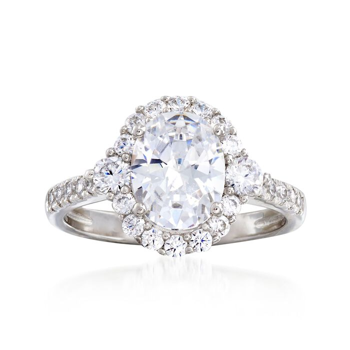 2.58 ct. t.w. CZ Ring in Sterling Silver, , default