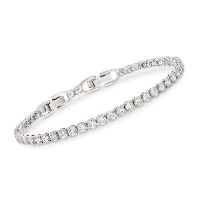 Swarovski Crystal Tennis Bracelet in Silvertone, , default