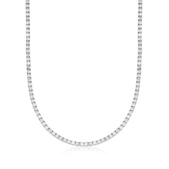 "20.00 ct. t.w. Diamond Tennis Necklace in 14kt White Gold. 18"", , default"