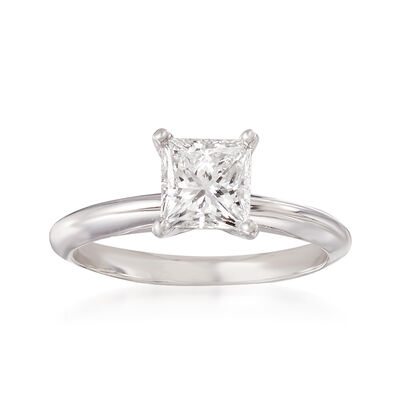 1.25 Carat Certified Diamond Solitaire Ring in 18kt White Gold, , default