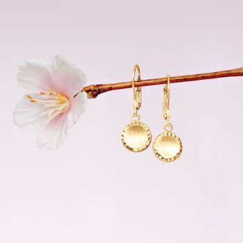 Italian 18kt Yellow Gold Circle Drop Earrings, , default