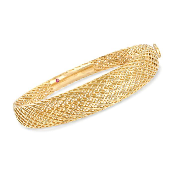 "Roberto Coin ""Silk"" 18kt Yellow Gold Bangle Bracelet. 7"""