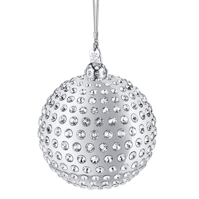 Crystamas Xirius Swarovski Crystal White Rhodium-Plated Ball Ornament