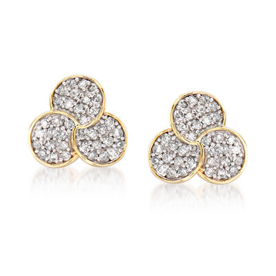.20 ct. t.w. Diamond Multi-Circle Earrings in 14kt Yellow Gold, , default