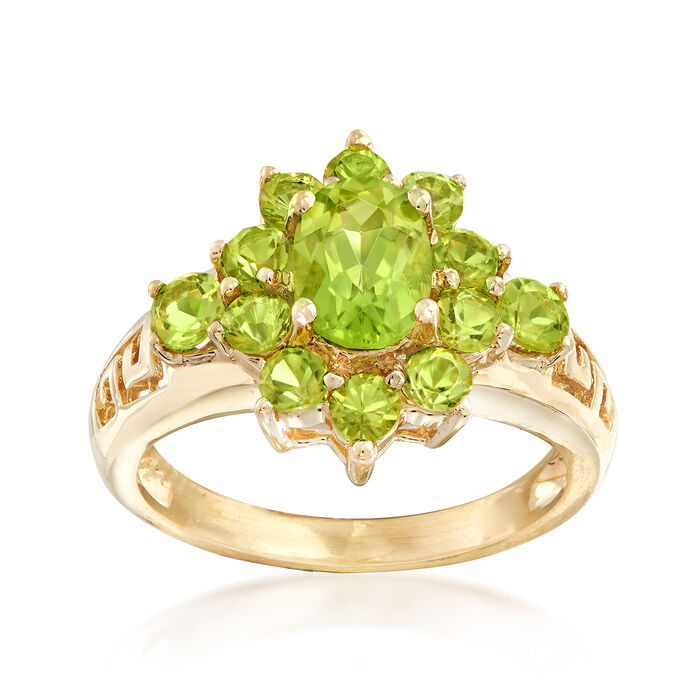 C. 1990 Vintage 1.58 ct. t.w. Peridot Ring in 10kt Yellow Gold. Size 5, , default