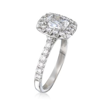 Henri Daussi 1.53 ct. t.w. Diamond Engagement Ring in 18kt White Gold, , default