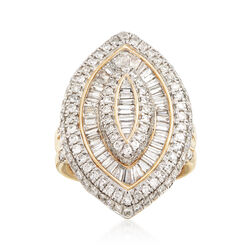 3.00 ct. t.w. Diamond Marquise-Shaped Ring in 14kt Yellow Gold, , default