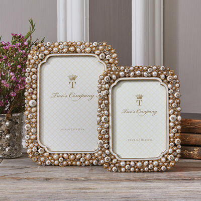 """""""Timeless"""" Set of Two Crystal and Pearl Photo Frames, , default"""