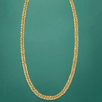 """14kt Yellow Gold Wheat-Link Necklace. 24"""", , default"""