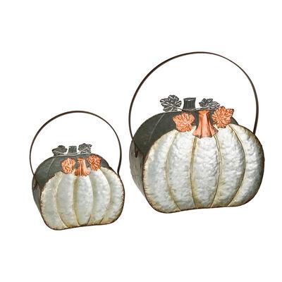 Regal Set of 2 Pumpkin Planters