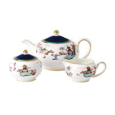 """Wedgwood """"Wonderlust"""" Blue Pagoda 3-pc. Tea Set"""