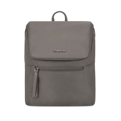 "Anti-Theft ""Addison"" Brown Backpack"