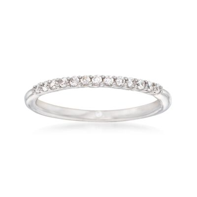 Gabriel Designs .16 ct. t.w. Diamond Wedding Ring in 14kt White Gold, , default