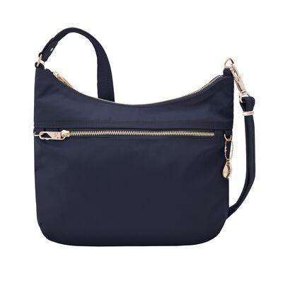 "Travelon ""Anti-Theft Tailored"" Sapphire-Blue Nylon Twill Hobo Bag"