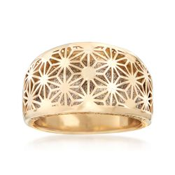 Italian 14kt Two-Tone Gold Starburst Ring, , default