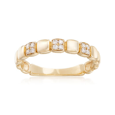 .10 ct. t.w. Diamond Station Band in 14kt Yellow Gold, , default