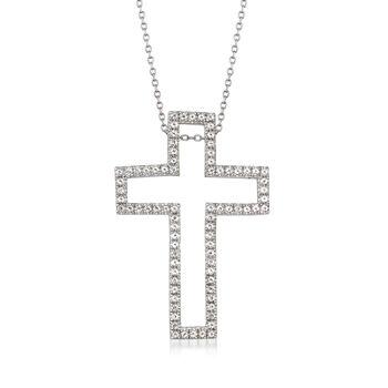 5.50 ct. t.w. Multi-Gem Interchangeable Cross Pendant Necklace Set in Sterling Silver