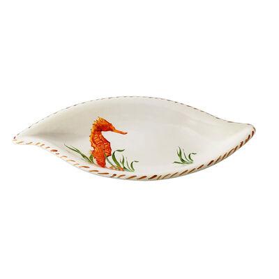 Abbiamo Tutto Seahorse Ceramic Leaf Bowl from Italy