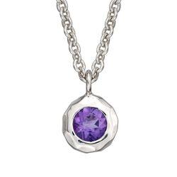 "Zina Sterling Silver ""Sahara"" .40 Carat Amethyst Pendant Necklace, , default"