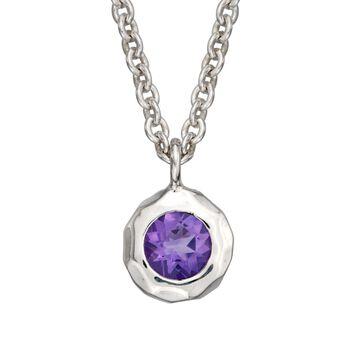 "Zina Sterling Silver ""Sahara"" .40 Carat Amethyst Pendant Necklace. 17"", , default"
