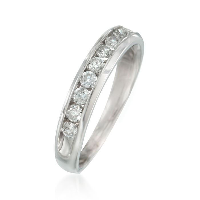 .50 ct. t.w. Diamond Wedding Ring in 14kt White Gold