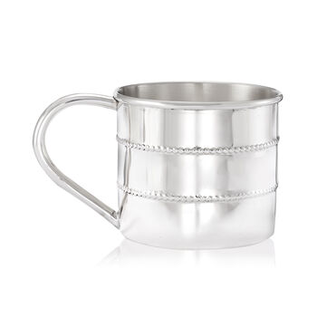 Gorham Sterling Silver Personalized Beaded Baby Cup, , default