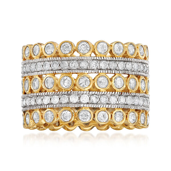 3.00 ct. t.w. Diamond Multi-Row Eternity Ring in 14kt Yellow Gold #923834