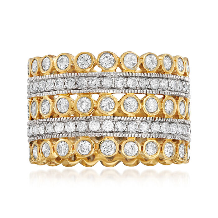 3.00 ct. t.w. Diamond Multi-Row Eternity Ring in 14kt Yellow Gold