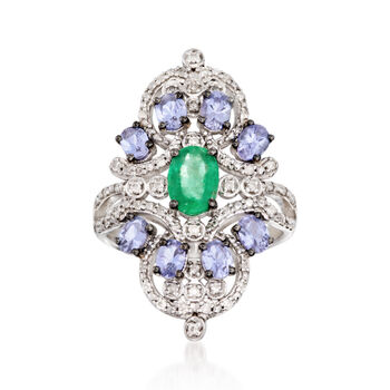 2.46 ct. t.w. Multi-Stone Ring in Sterling Silver, , default