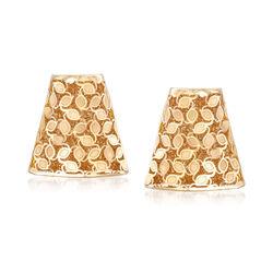 Italian 14kt Yellow Gold Bell-Shaped Earrings, , default
