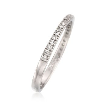Simon G. .17 ct. t.w. Diamond Wedding Ring in 18kt White Gold. Size 7