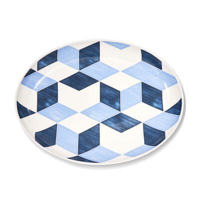 "Lenox and Luca Andrisani ""Blue Azzurro"" Porcelain Oval Platter, , default"
