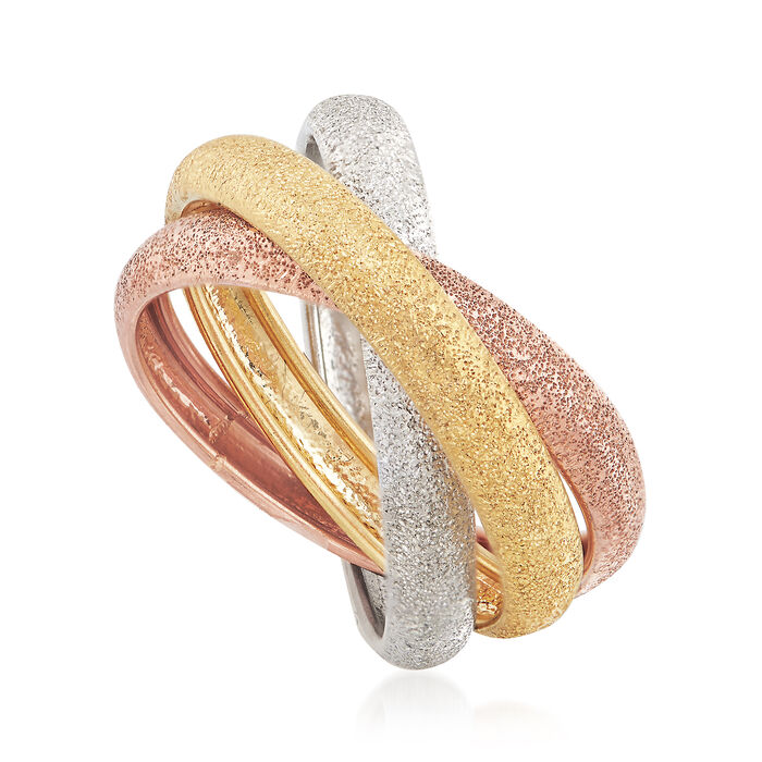 Italian 14kt Multitone Gold Rolling Ring