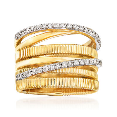 .50 ct. t.w. Diamond Highway Ring in 14kt Yellow Gold