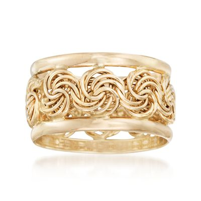 14kt Yellow Gold Rosette Ring, , default