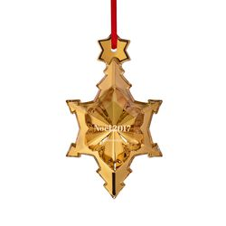 "Baccarat 2017 Annual Gilded Crystal ""Noel"" Ornament, , default"