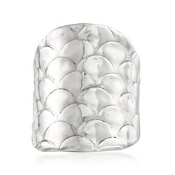 Sterling Silver Wide Scaled Ring, , default