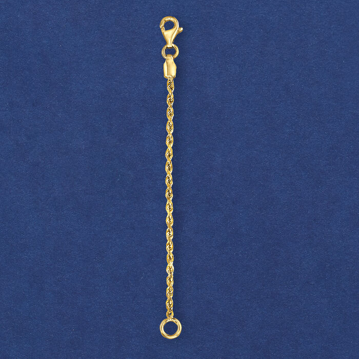 1.75mm 14kt Yellow Gold Rope Chain Necklace Extender