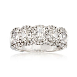 Henri Daussi 1.71 ct. t.w. Five-Stone Diamond Ring in 18kt White Gold, , default