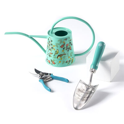 Flora and Fauna Gardening Set: Watering Can, Pruning Shears and Trowel, , default