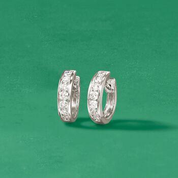 """1.00 ct. t.w. Diamond Hoop Earrings in 14kt White Gold. 1/2"""""""
