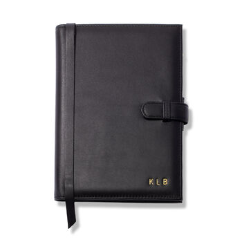 Royce Leather Three-Initial Journal