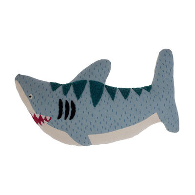 Child's Shark Embroidered Pillow by Stephen Joseph