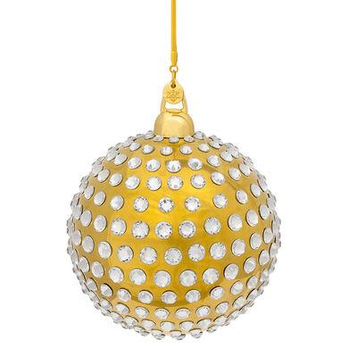 Crystamas Xirius Swarovski Crystal Gold-Style Ball Ornament